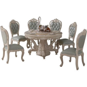 Antique Furniture Factory Wholesale Round Dining Table with Chairs
