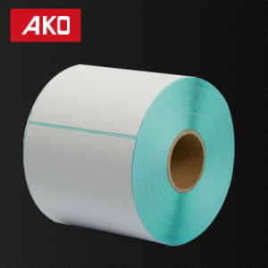 OEM Coated Paper Layer Holt Melt Self Adhesive Sticker with White Glassine Liner for Clothing Labelusey pictures & photos