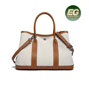 New Design Handbag Elegant Lady Hand Bag Contrast Color Bag Leather Tote Shoulder Bag for Women Ladies Tote Bag Emg5189 pictures & photos