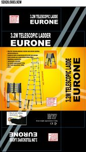 Double Telescopic Ladder (3.2m+3.2m) pictures & photos