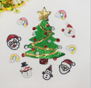 2017 Christmas New Design Sequin Patch for Children pictures & photos