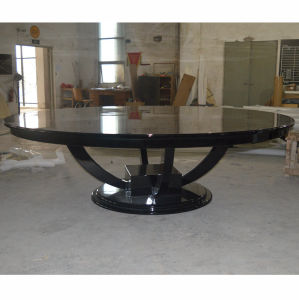 China Black Glossy Round Wooden