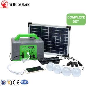 10w Home Solar Panel Lighting Kit With 4 Led Lights