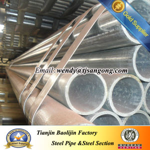 Hot DIP Galvanized Steel Pipe with Plastic Cap Painted Words pictures & photos