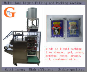 Multi-Lane 50ml Wine Filling and Packing Machine (4 sides sealing;) pictures & photos