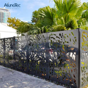 China Wholesale Large Size Prefabricated Decorative Metal Garden Fence Panel China Decorative Metal Fence Panels And Aluminum Airfoil Louvre Fence Price