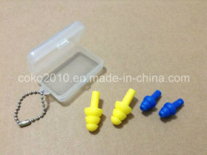 Non-Toxic, Eco-Friendly Three-Layer Silicone Earplug pictures & photos