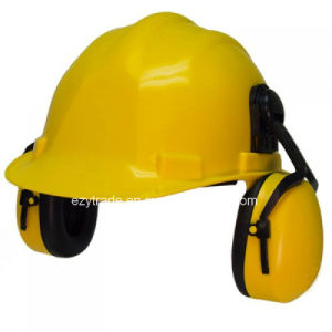 Custom Construction ABS Safety Helmet with Earmuff