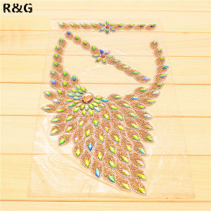 Hot Fix Crystal Rhinestones Collar for Women′s Dress