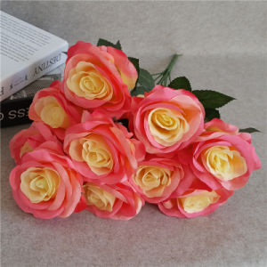 New Artificial Flower 10 Heads Rose Bouquet for Decoration