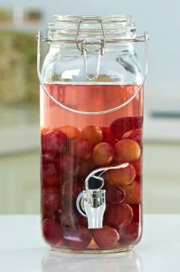 Long Round Juice Glass Jar Storage Beverage Glassware