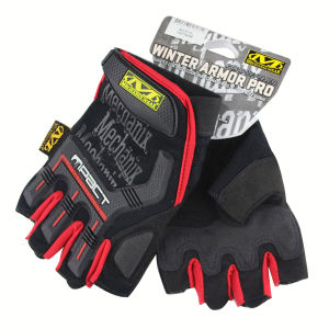 New Style Half Finger Yellow Black Gloves