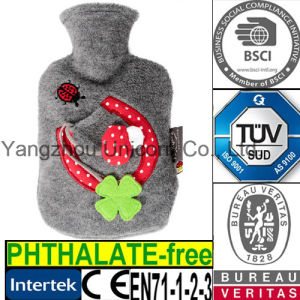 CE Coral Ladybug Hot Water Bottle Cover