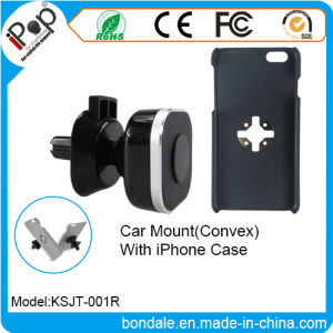 Magnetic Car Mount Convex Phone Case Stand with iPhone
