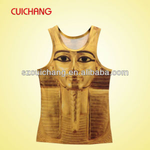 Wholesale Polyester Heat Transfer Printing Custom Design Sports Wear Women Gym Singlet Bx-015