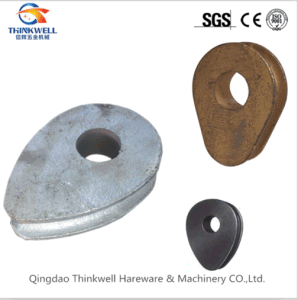 Factory Price Casting Steel Solid Wire Rope Thimbles pictures & photos