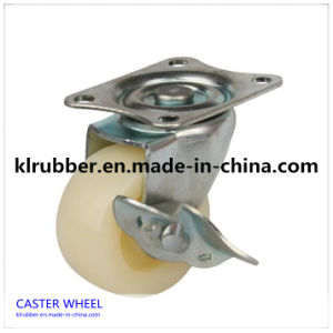 "3""-8""Inch White Nylon Wheel Caster with Brake pictures & photos"