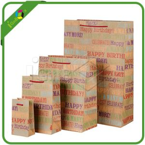 Kraft Paper Bag with Nylon Handle pictures & photos
