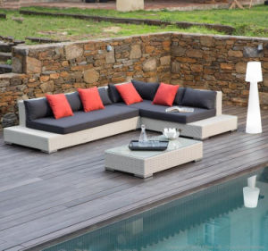 L Shape Outdoor Leisure Sofa Garden Furniture Rattan Sofa (S232) pictures & photos