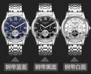 Mens Multi-Function Wristwatch with 3eyes on Dial 6hands
