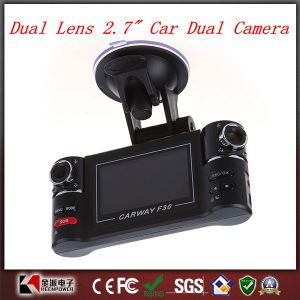 "Dual Lens 2.7"" Car Dual Camera Night Vision HD Vehicle Black Box pictures & photos"