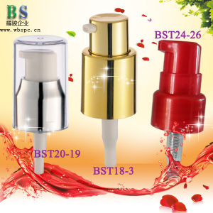 Plastic Smooth Closure Cream Pump with Overcap pictures & photos