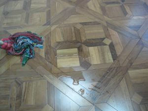 New Design Waterproof Burma Teak Wooden Veneer Parquet Flooring