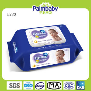 80PCS/Bag Palmbaby Wet Wipes, Soft Spunlace Non-Woven Baby Wet Wipes pictures & photos