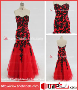 9d46c5edfa5a China Mermaid Sweetheart Black Lace Red Tulle Wedding Dress/Evening Dress/Prom  Dress (KMLY61) - China Evening Dress, Prom Dress