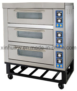 3-Deck 6-Tray Stainless Steel Infrared Baking Oven with CE