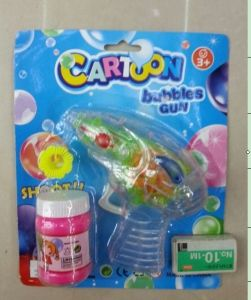 Children Plastic Manual Bubble Gun Toys with Light