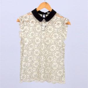 ed64333e3e3 China Latest Fashion Women Elegant Lace Tops Sleeveless White Lace ...