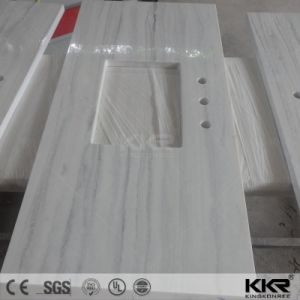Kingkonree Sanitary Ware Solid Surface Bathroom Vanity Counter Top (180227) pictures & photos