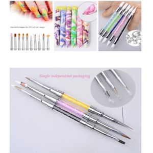 China Best Selling Transparent Silicone Nail Art Pen & 10PCS/OPP Bag ...