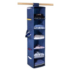 Durable Canvas Closet Hanging Shoes Garment Storage Bag Organizer