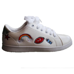 24c50b89e65 latest Micro Leather Fashion Sneaker Lace-up White Casual Shoes Wholesale  for Women