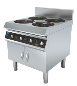Commercial Four Burners Induction Range Stove For Kitchen