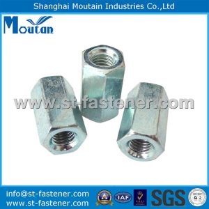 Hex Coupling Nuts with DIN6334 Zinc Plated