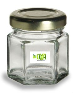 Glass Bottle, Glass Jar, 1oz (45ml) Hexagon Honey Jar