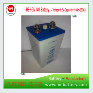 Hengming NiCd Battery Gnc300 1.2V 300ah Kpx Series/Ultra High Rate/Alkaline Rechargeable Battery and Sintered Plate Battery for Generator Set pictures & photos