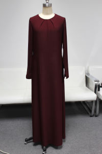2014 Yyh New Fashion Red Long Muslim Dress Abayas
