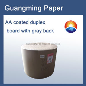 Coated Duplex Board with Grey Back /AA Grade Paper Roll