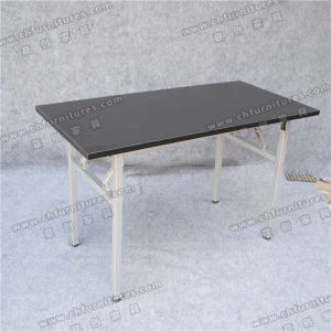 Black Melamine Conference Table with Silver Table Legs (YC-T06-03) pictures & photos