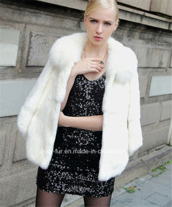 Fashion New Ladies Warm Fur Rabbit Coat (Qy-C09)