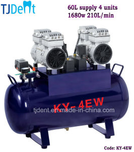 Ce Noiseless 60L Supply Four Units Dental Air Compressor pictures & photos