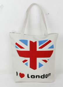 Canvas Shopping Casual Bag I Love London Printed Y031299 pictures & photos