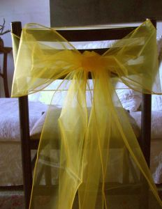 "Party Favor Sheer Organza / Satin Sash for Chair Cover (7"" X 105"") pictures & photos"