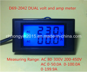 D69-2042 79*43 Popular Dual Volt and AMP Meter pictures & photos