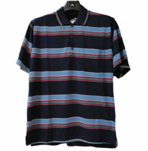 Men Striped Polo T-Shirt