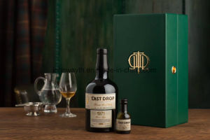 Custom Luxury Green PU Leather Wine Box for Whisky